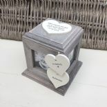Shabby Chic PERSONALISED Rustic Wood In Memory Of GRANDAD Photo Cube ANY NAMES - 332869715919